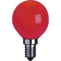 Klotlampa E14 LED - Röd