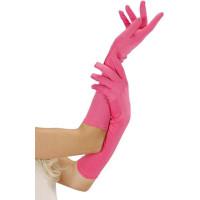 Långa Neonrosa Handskar - One size
