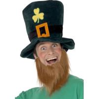 Leprechaun Hatt och Skägg - One size
