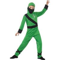 Grön Ninja Barn Maskeraddräkt - Medium