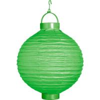 Papperslykta LED Grön