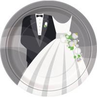 Papperstallrikar Bröllop - 8-pack
