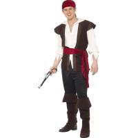 Pirat Maskeraddräkt - Medium