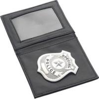 Plånbok med polisbricka