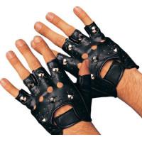 Punkhandskar med nitar - One size