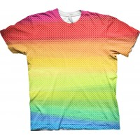 Rainbow Allover T-shirt - Small