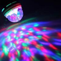 Roterande Partylampa LED Flerfärgad