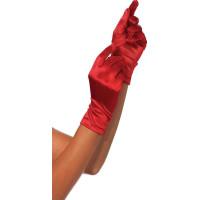 Satinhandskar Deluxe - Röd