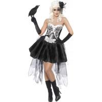 Skelett med Kjol Maskeraddräkt - Small