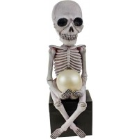 Skelett med Lampa Solcell