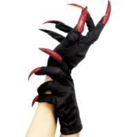 Svarta Handskar med Naglar - One size