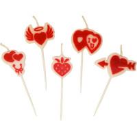 Tårtljus Kärlek - 5-pack