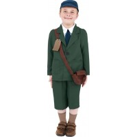 WW2 Pojke Barn Maskeraddräkt - Large