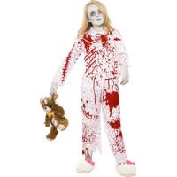 Zombieflicka i Pyjamas Barn Maskeraddräkt - Medium