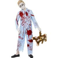 Zombiepojke i Pyjamas Barn Maskeraddräkt - Medium