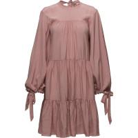 Ls Short Gathered Dress