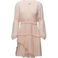 Ls Painted Dot Ruffle Dress