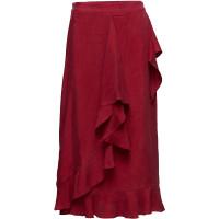 Wrap Skirt In Cupro W. Tie