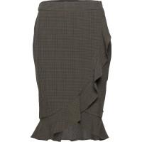 Skirt In Checks W Ruffle