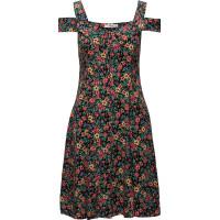 Flowers Cold-Shoulder Dress