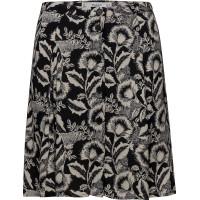 Printed Button Skirt