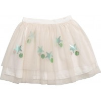 Appliqus Tulle Skirt