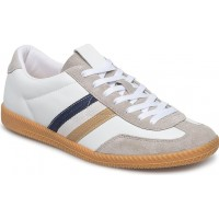 Panels Leather Sneakers