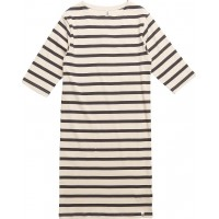 Maritime 3/4 Arms Dress Off White With Navy