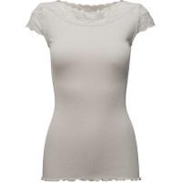Silk T-Shirt Regular Ss W/ Lace