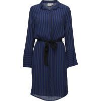 Two Tone Stripe P Dress W Belt