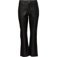 Slfmia Mw Cropped Leather Pant W