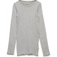 Rib T-Shirt Lace Ls