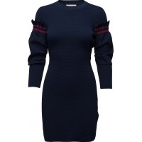 Dress W Ruffle Sleeve