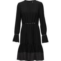 Ls Pintuck Dress W Silk Ties