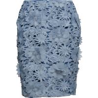 Manzoni 3d Floral Lace Pencil Skirt