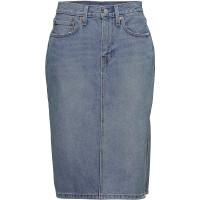 Side Slit Skirt Blue Waves