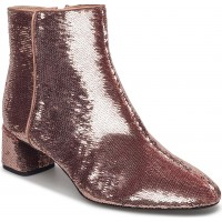 Sequinned High Heel Ankle Boots