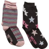 2-Pk Sock - Star/Stripe Lurex