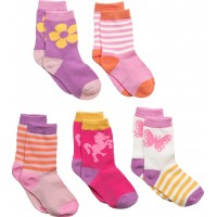 Numbers 5-Pack Socks - Girls
