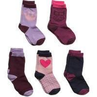 Numbers 5-Pack Socks - Girls