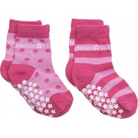 Anti-Slip Pink Socks