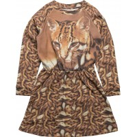Robbie Ls Dress Cat Aop