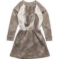 Robbie Ls Dress Fawn Aop