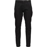 Shharval Black Struc Slim St Pants Sts
