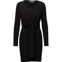 High Twist L/S Dress W/ Front Tie