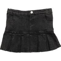 Denim Skirt Grey/Black