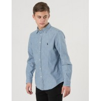 Ralph Lauren LONG SLEEVE BUTTON DOWN SHIRT Blå Skjortor till Kille