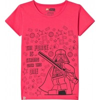 Lego WearT-shirt, M-71173, Coral Red110 cm