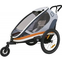 HamaxCykelvagn, Outback One, White/Grey/Orange