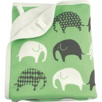 LittlephantBlanket Elephant Green/Grey